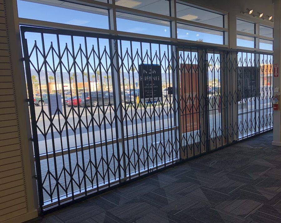 Storefront Folding Scissor Gates Maxguard